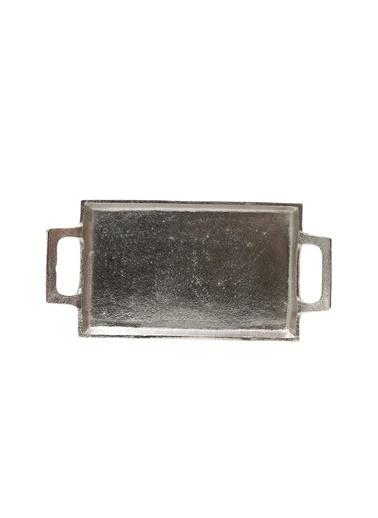 Boyner Evde Boyner Evde 28x14 cm Silver  Dekoratif Tepsi Gümüş